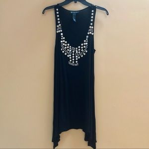 Embellished Jeweled/Studs Tank Top